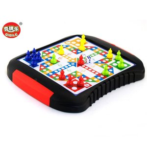 Mini Chess tiroir Checkers magnétique en plastique Échiquier Jeu de société Portable Kid Toy Flight Chess Board Family Puzzle Game
