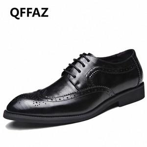 QFFAZ العلامة التجارية أحذية الرجال عالية الجودة أشار تو اللباس أحذية رجالية ذكر ملابس رسمية Zapatos هومبر أوكسفورد زائد الحجم 38 48 قارب أحذية S vUxn #