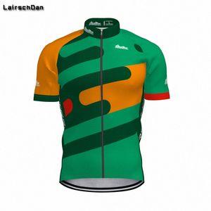 LairschDan 2020 Männer New Green Quick Dry Radfahren Jersey Kurzarm Mtb Road Racing Fahrrad-Hemd Hombre Verano CMFN #