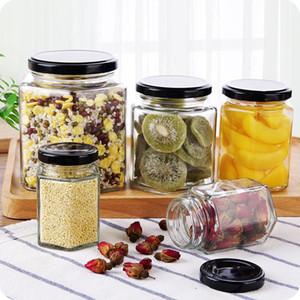 Бутылки для хранения JARS Kitchen Multi-функциональный герметичный может прозрачный стеклянный зерна для зерна Специи для медового закуска Бак-контейнер LX2271752 MX