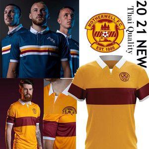 2020 2021 Maillot football Motherwell THAI Donnelly A.Campbell blanc long Lang Watt Hastie uniformes de Short de soccer de football