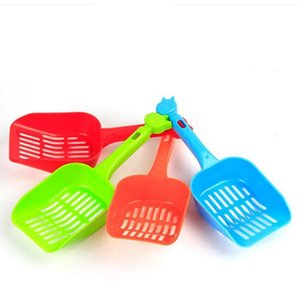 Plastic Pet Fecal Cleaning Spade Multi Color With Handle Cat Litter Shovel Durable Thicken Pets Supplies Hot Sale SN3255