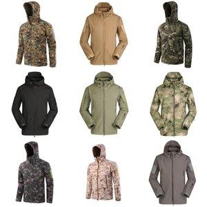 2020 Summer New Outdoor manteau coupe-vent crème solaire en cuir en cuir pour les hommes et les adolescents Simple Tout-Match Solide Couleur peau Coat Men # 435