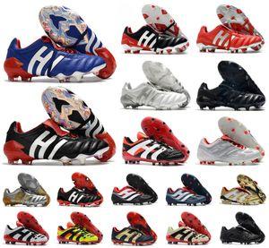 Uomini Predator 20+ Mutatore Mania Tormentore acceleratore di elettricità precisione 20 + x fg Beckham DB Zidane ZZ Scarpe da calcio Scarpe da calcio Boots