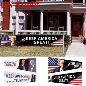 Todos a bordo del partido del acontecimiento de 296x48cm Bandera Campaña Trump tren de suministros de los Estados Unidos 2020 Elección Presidencial Banner Keep America Gran FWC1221