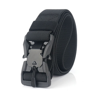New Fashion Handmade Mens Popular High Quality Multi-colors Magnetic Pin Nylon Belt 125CM Long Safe Outside Belt