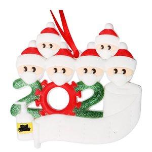 Benedizioni Nome fai da te 3D pupazzo di neve albero di Natale appeso a sospensione in PVC Spot Mask Nuova Decorazioni di Natale Babbo Natale con la nave veloce OOA9685