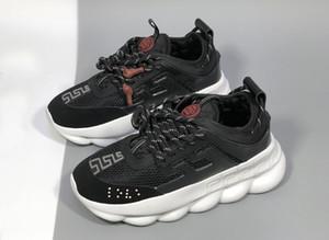Hott Reacción en Cadena de venta de moda marca de moda de lujo de los hombres zapatos de diseño de Balck Distrito blanca medusa zapatos para hombre zapatillas de deporte al aire libre para mujer Falt