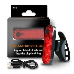 Bicicleta Taillight com impermeável USB carregável equitação Led Rear