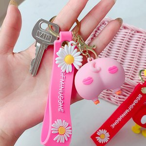 Korea Cartoon Keychain April Fools' Day Spoof Holiday Gift Party Decoration Doll Sexy Model Couple Backpack Accessories Wholesal