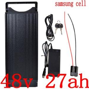 Пакет 48V 1000W 2000W литиевая батарея Электрический велосипед 12AH 15AH 18AH 21AH 24AH 27AH Ebike литий-ионный использование Samsung клеток