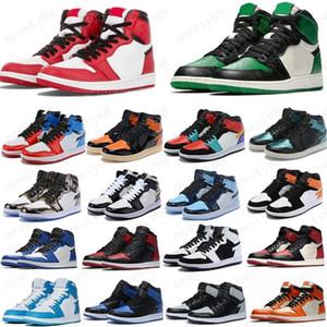 2020 1 alta OG basquete sapatos 1s Real Toe preto verde pinheiro judiciais preto branco roxo patentes UNC homens mulheres estilista sapatilhas