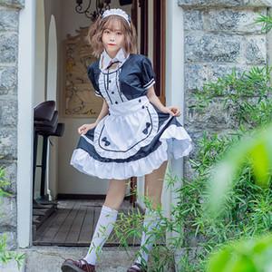 الحلو لوليتا اللباس خادمة الفرنسية النادل زي المرأة مثير البسيطة المريلة لطيف آوجي الزي تأثيري هالوين للبنات بالاضافة الى حجم CX200817