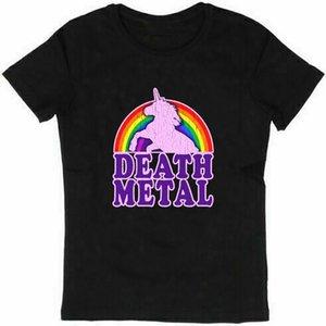 Engraçado Death Metal Unicorn afligido Mens Funny T Vintage shirt tops de manga curta de algodão T-shirt Camisetas Hombre Shirts