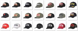 2020 berretti da baseball all'ingrosso caldo di vendita icon icona cappello d2 ricamo di lusso del Mens cappelli di Snapback regolabile dsq2 dsquared2 tappo uomini dvd72