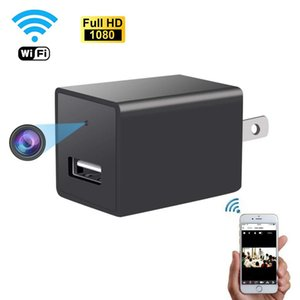 toma del adaptador de CA de la cámara cargador de la cámara HD 1080P del enchufe USB inalámbrico Wifi IP del P2P de vigilancia DVR Seguridad para el Hogar / CC con detección de movimiento