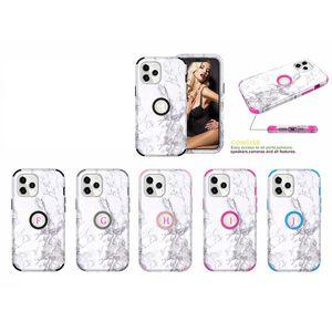 Mermer Kaya Darbeye Zırh Vaka için Iphone 1 Defender Telefon Kapak 12 5,4 6,1 6,7 2.020 Sabit PC + TPU Hibrid Granit Doğal Taş Tane 3