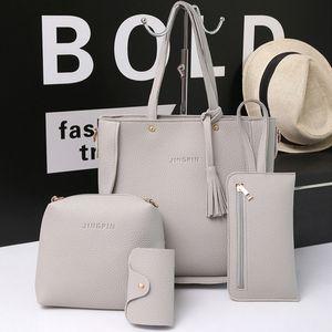 Mujeres bolsas del conjunto de asas del bolso + Shoulder Bag + Messenger de blosa + embrague del día cuatro piezas bolsa de asas Cruzado Monedero Bolsas # 5%