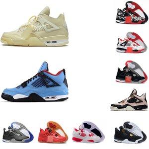 2020 Nakeskin gato criado Negro retroJordan 4 4s baloncesto zapatos para hombre de los hombres zapatillas de deporte blancas de diseño IV formadores de dinero Pure aj 1 con la caja