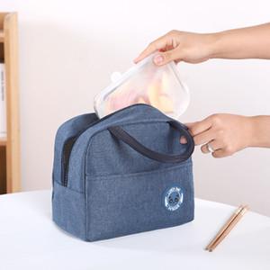 Fest Farbe wasserdicht Mittagessen-Beutel-bewegliche Zipper Mittagessen-Beutel-Frauen Studenten Lunch Box Thermo Bag-Büro-Schule Picknick-Kühltasche BH3098 DBC