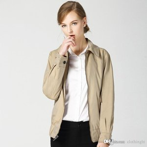 Good Quality New Arrive Spring Autumn Short Coat Women Casual Loose Zipper Cotton Outerwear Wear Baseball Jacket On Both Sides cloth