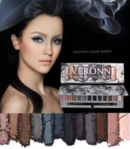Maquillaje de ojos de mármol VERONNI la gama de colores del brillo 6 6 12 colores mate de alta pigmento del reflejo de calentamiento ojos ahumados paleta de sombra de la roca fundida de calor