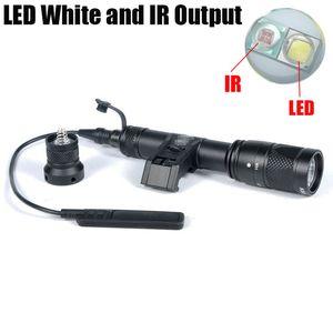 Tactical SF IFM M600V IR dupla levou luz branca e saída IR Hunting Rifle Lanterna Preto