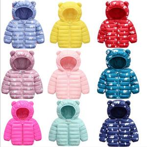 2020 fashion children's down jacket cotton baby winter warm jacket baby hooded jacket cartoon clothing