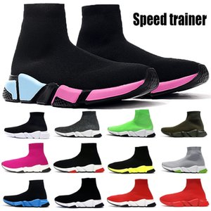 Günstige Speed ​​Trainer Paris Socken Schuhe Männer Frauen schwere Sohle Plattform Bottom Triple Black Weiß Universität Red Fashion Boots-zufällige Turnschuhe