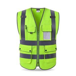 cgjxs alta calidad de alta visibilidad chaleco reflectante Ropa de trabajo Ropa de motociclista deportes de ciclo al aire reflexivo de la seguridad # 039 T191029