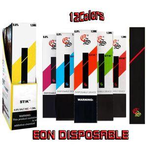 2020 EON STIK-Einweg-Pod Kit 6,8% 280mAh-Stick-Batterie ST! K Portable Vape-Pen-Stift mit 1,5ml PODS-Geräteteil kompatibel