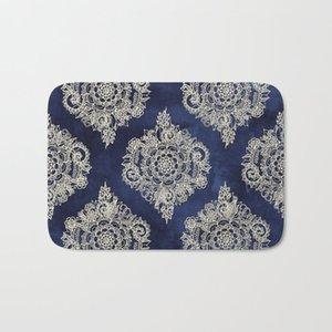 HOT Badteppiche Sahneblumen Marokkanische Badmatte Flanell Absorbent nicht Beleg Fußmatte Haustür-Bad-Raum Mats Ostern 40x60