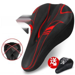 DxkCW VTT coussin de siège de vélo coussin de couverture 3D éponge silicone épaissie accessoires souples d'équipement selle vélo bicycleSilicon