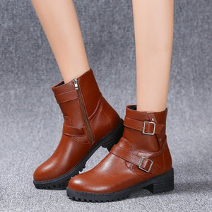 2020 Autumn and Winter New Short Tube Boots Women Low Heel Fashion Boots Fashion Winter Women