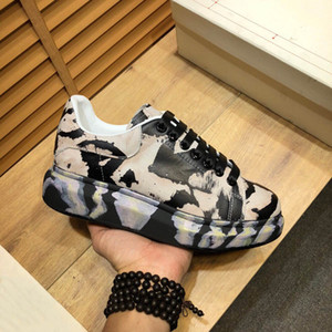 Mens Noctilucent Platform Shoes Black Splash Ink Designer Sneakers Paint Graffiti 3m Pelle Riflettente Ins Popolare Donne da donna Casual Trainer