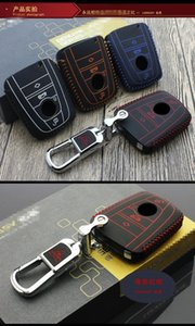 Car Key Bag Top caso chave camada de couro 2014-2020 OEM Para BM W Series chave do carro acessórios para carros tampa do I3 I8