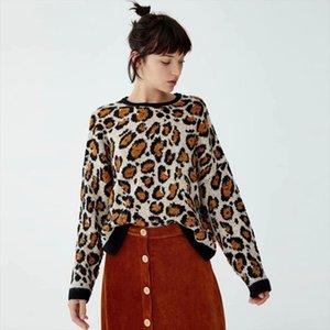 KIYUMI Donne Maglione Giallo Leopard maglione Urgan Gypsy Tops per la donna 2019 Nuovo Autunno Inverno dal O collo maglioni casual