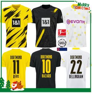 2020 2021 Borussia Dortmund futbol forması 20 21 formalarını HAALAND REUS erkekler + çocuklar kiti maillot DE AYAK