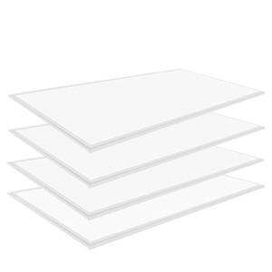 2 × 4 LED 평면 조명, Allsmartlife 4 팩 2x2FT 패널의 LED 빛 디 밍이 가능한 4000K 순백색, 0-10V 40W (140W 상당) - 화이트 프레임,