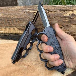 Gant d'origine embossé automatique en alliage d'aluminium de zinc Couteau tactique 440C extérieur couteaux Camping pêche outils Multifunton main de edc