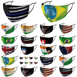 Abdeckung Baumwolle Flaggen Cloth Kingdom Masken Packaged Länder Nose Individuell Vereinigte Grooth Australien Arab Discount Brfdm