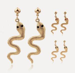 Novo Presente de Chrismas para Menina Lady Snake Brincos Kit Animal Snake Dangle Brincos Earrings Onda Gota Brincos Para As Mulheres Moda Jóias