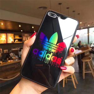 Mode verre AD Téléphone brillant Case pour iPhone 11 Pro Max X XS MAX XR Shell Téléphone portable exercice de couverture pour iPhone 6S 6 7 8 Plus