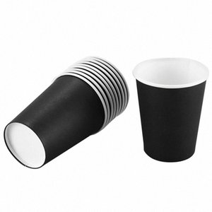 10PCS Cups Tableware Cups for Home Party Wedding Drinking New Black ZSgl#