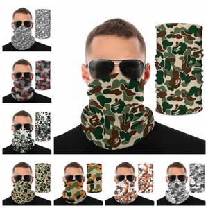Camo Impreso Headwear de 17 colores de camuflaje bufanda mágica Cara máscara protectora del ciclo de protección engranaje de la moda ciclismo 120pcs Máscaras CCA12407