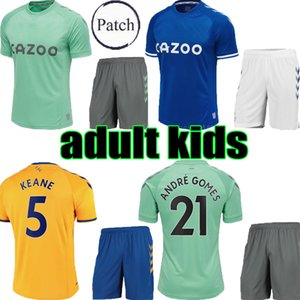 adulto crianças EVERTON 2020 2021 SIGURDSSON verde RICHARLISON terceiro futebol kits jersey 20 21 CALVERT-LEWIN KEANE Football Shirts criança Conjunto completo