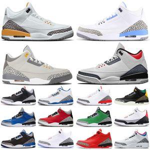nike air jordan retro 3 3s jumpman hommes chaussures de basket Laser orange varsity royal feu rouge UNC cool gris hommes formateurs baskets de sport taille 7-13