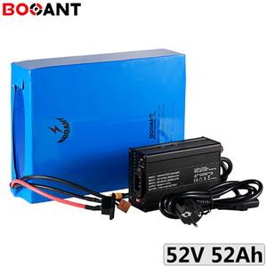 haute capacité batterie au lithium 1500W 52V 50Ah de vélo électrique 2000W ebike pack Li-ion avec 18.650 5A Chargeur