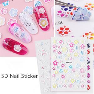 Nail Stickers 5D Stereo Fiore Relief decalcomanie del chiodo chiodo autoadesivi DIY del manicure Art Stickers Dropshipping F659