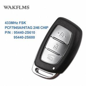 3 кнопок BTN 433MHz PCF7945A Hitag 2 46 CHIP Удаленный ключ Smart Car Для IX35 95440-2S610 95440-2S600 vxvY #
